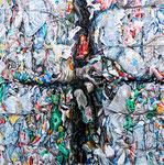 SHADOW CROSS 2018 Acryl auf Leinwand 115 x 115 cm