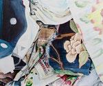 CURTAIN UP 2020 Acryl auf Leinwand 50 x 60 cm
