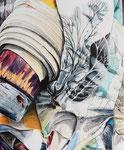 OFF THE ROLL 2020 Acryl auf Leinwand 50 x 60 cm