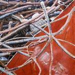 moving iron 2018, Acryl auf Leinwand 115 x 115 cm