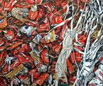 RED CANS 2013 Acryl auf Leinwand 50 x 60 cm