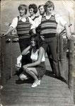 Les Elairs uit Halsteren met hun jonge zangeres Mirella Jacobs ca. 1968