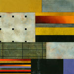 "Gregg Robinson, ""Fall,"" 2010, mixed media on canvas, 24 x 24"", $2500"