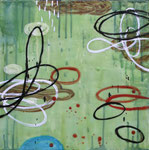 "Rana Rochat, ""Untitled A104,"" 2010, encaustic on panel, 16 x 16"", $1700"