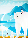 "Jain Tarnower, ""Polar Bear and Friends,"" oil on canvas on panel, 88 x 66 inches, $18,000"
