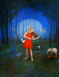"""Norma Bessouet, """"The Lost Garden,"""" 2012, oil on linen, 42 x 32"""", contact"""