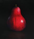 "Tom Seghi, ""Red Pear,"" acrylic on canvas, 24 x 20 inches"