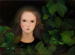 """Norma Bessouet, """"Nocturnal Ivy,"""" 2012, oin on linen, 20 x 28"""", Contact"""