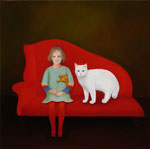 "Norma Bessouet, ""Family Portrait,"" 2012, oil on linen, 25 x 25"", SOLD"