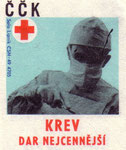 Blood, a most precious gift: Czechoslovak Red Cross. 1971. Czechoslovakia. matchbox labels. print. ephemera.