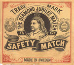 Made in Sweden, commemorating Diamond Jubilee, portrays Queen Victoria