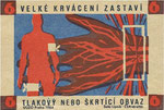 Red Cross, Czechoslovakia, 1964. Circulación Sanguínea.