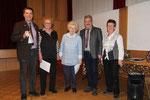Helene Fahs und Helga Lieb werden für 25 Jahre singen im Chor geehrt