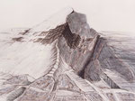 Bleiplatten verändern den Bergschatten, Öl auf Leinwand, 1986