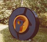 Rad-Plastik, Holzrelief, 1971