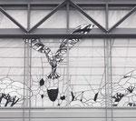 Phönix aus dem Ei (Ausschnitt), Glaspyramide Kreissparkasse Heilbronn, 1990