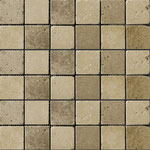 Tapete Travertino beige-moka 2x2