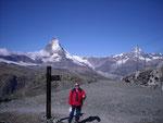 Longue descente sur Zermatt.