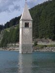Der Kirchturm von Alt-Graun