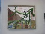 Geäst, Gehölz, Gezweig / Acryl auf Leinwand / 150 x 150