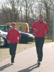 oBeim Auslaufen mit Christop Roschinsky
