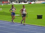 Sophie Stellmach (links / SV Kali Wolmirstedt) und Monique Brosch (rechts / LAZ Leipzig)