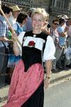 9-11.09.2011 Coire fête fédérale, Brigitte Sahli en cortège