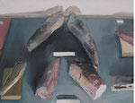 Vitrine, 36 x 48 cm, huile sur toile