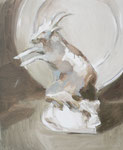Le chamois, 50 x 61 cm, huile sur toile