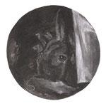 Watteau, 30 x 30 cm, fusain sur papier