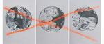 Dimanches matins, fusain et aérosol sur papier gris, 50 x 70 cm chacun