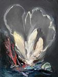 Panaches de mer, 41 x 53 cm, huile sur toile, 2013
