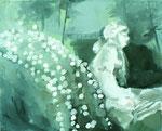 Minuit sonne, 33 x 41 cm, huile sur toile