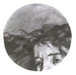 Courbet, 30 x 30 cm, fusain sur papier, 2010