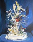 L'arbre à oiseaux, 80 x 100 cm, huile sur toile