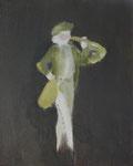 Le sonneur, 33 x 41 cm, huile sur toile
