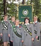 Die Damenmannschaft aus Basbeck als Kreisbannersieger der Damen