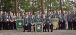 Gruppenaufnahme der erfolgreichen Einzel- und Mannschaftssieger mit Kreisvorstand und Ehrengästen