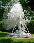 Das Radioteleskop Effelsberg in der Eifel, bei dem ich mit dem Rad schon gewesen bin