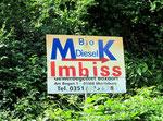 Na, wenigstens gibt's Bio-Diesel zum Imbiss!