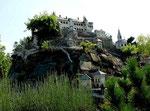 Minimundus bei Klagenfurt bietet Bauwerke von Nah und Fern: Hier die Burg Hochosterwitz, an der ich gerade vorbeigefahren bin