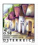 2002 war die Hadreser Kellergasse sogar ein Briefmarkenmotiv.