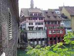 Über die Limmat in Baden (CH)