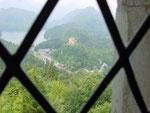 Blick von Neuschwanstein auf Hohenschwangau und Alpsee