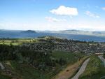 Rotorua - mit der Seilbahn auf den Berg