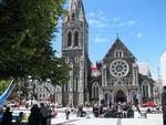 Cathedral Square im Herzen von Christchurch