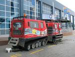 Haglund - früher in der Antarktis unterwegs - jetzt fahren Touris damit herum