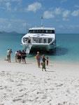 der vielleicht weisseste Strand der Welt auf den Whitsundays am Great Barrier Reef
