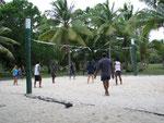 Beachvolleyball am späten Nachmittag