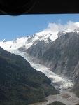 mit dem Heli zum Franz-Joseph-Gletscher
